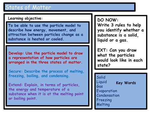 GCSE AQA C3.1 - States of Matter