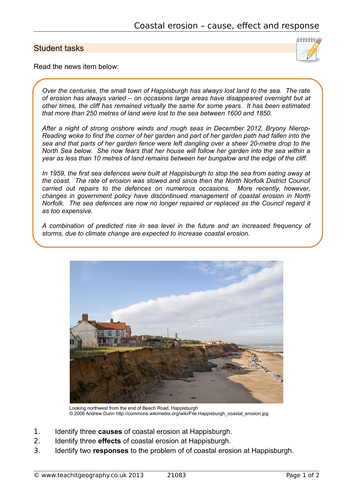 Water World Lesson 8 - Coastal Erosion Mystery