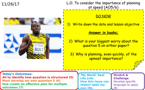 AQA GCSE English Language Paper 2 Q5 - Revise planning