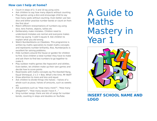 A Guide To Mastery In Maths In Year 1 (for parents)