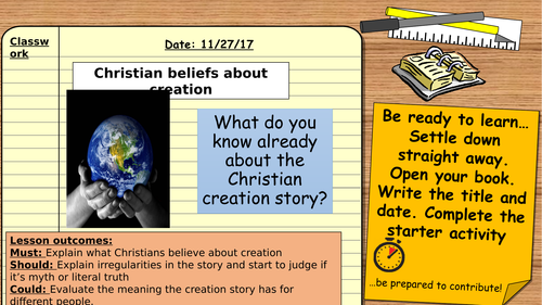 AQA (9-1) GCSE Christian Beliefs: Christian beliefs about creation