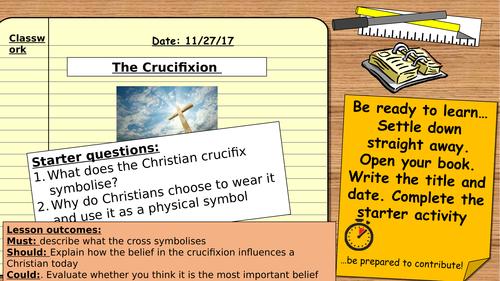 AQA 9-1 Religious Studies GCSE. Christian Beliefs: The crucifixion