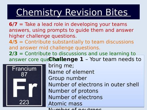 Chemistry Revision Challenge Lesson