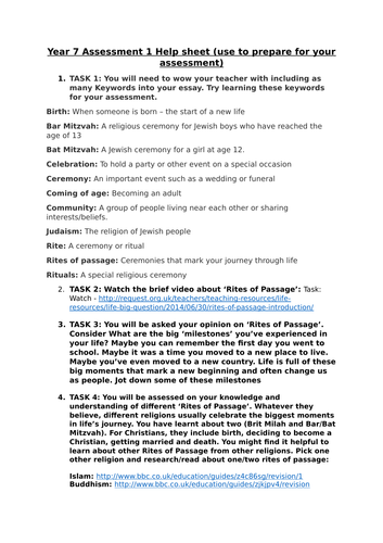 rites of passage assessment lesson judaism by katyn teaching  rites of passage assessment lesson judaism by katyn1 teaching resources tes
