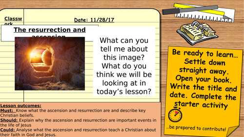 AQA 9-1 GCSE Religious Studies: Christian beliefs - The ascension and ressurection