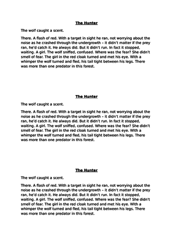 100 word story writing cover lesson