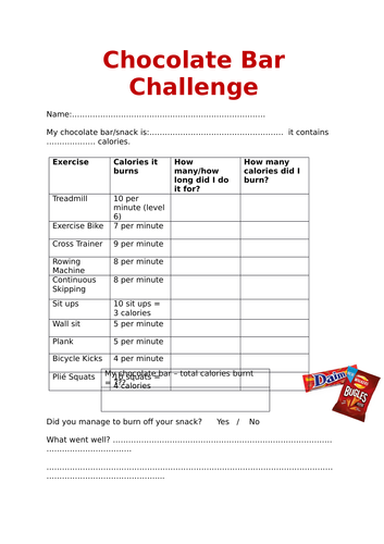 Chocolate Bar Challenge