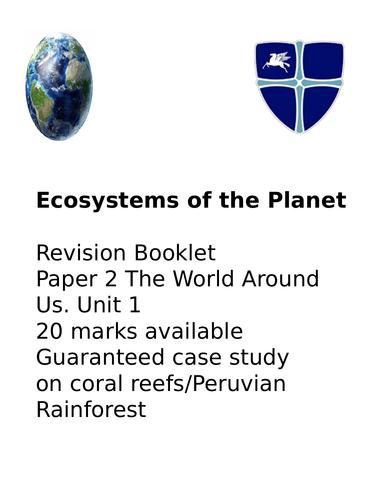 Rivers and coasts OCR GCSE 9-1 A revision bundle