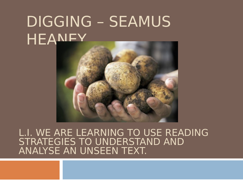Digging - Seamus Heaney Lesson