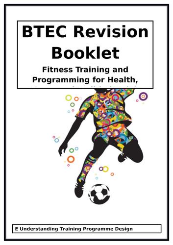 BTEC National in Sport - Unit 2 (E) - Understand Training Programme Design