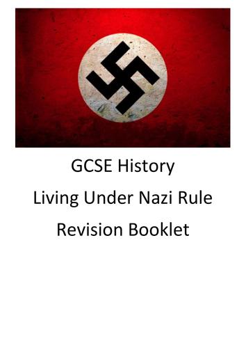 OCR SHP-B GCSE History, Living Under Nazi Rule, Revision Work Booklet