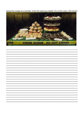 Creative writing detective crime story worksheet