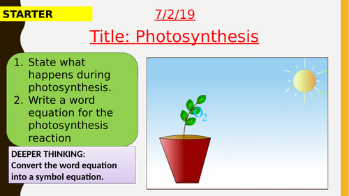 AQA new specification-Photosynthesis-B8.1