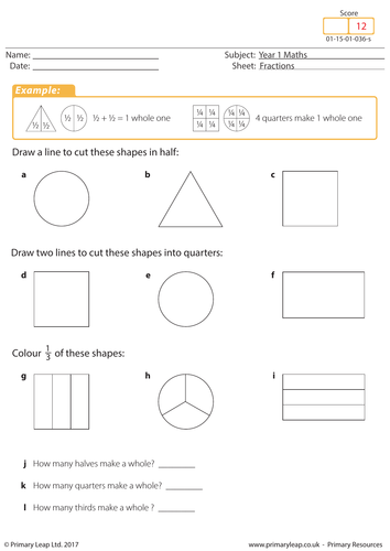 introduction to fractions  by primaryleap  teaching resources  tes