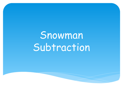 Snowman / Christmas / Winter Maths - Subtraction Take Away One Less ...