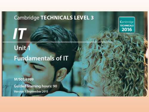 OCR Cambridge Technicals in IT - Unit 1 -3.4 - Connectivity Methods and 1.6 - Communication Hardware
