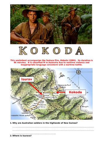 Kokoda (2006) worksheet