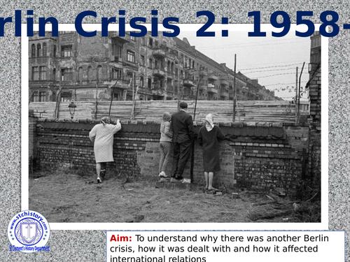 Edexcel 9-1 Cold War: Berlin refugee crisis, Ultimatum & Summits (EDITABLE)