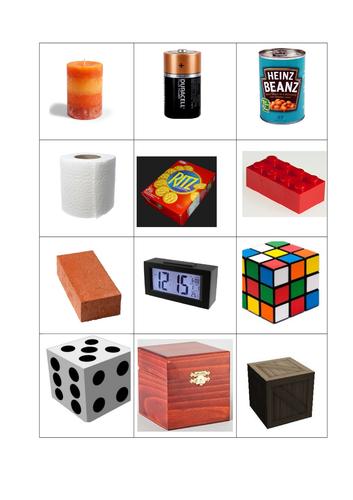 3d shape bingo board mat EYFS KS1