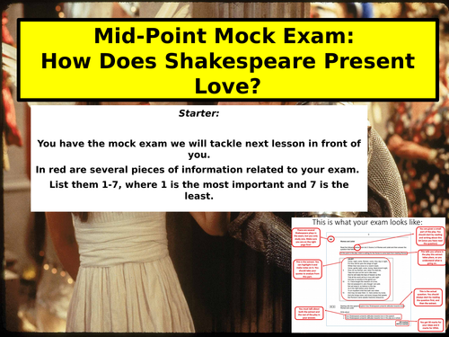 how does shakespeare present love in