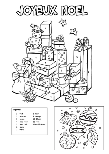 french coloring pages | French colouring by numbers (Christmas) by Cazduck ...