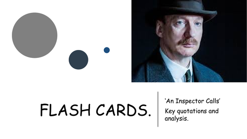 An Inspector Calls quotation flashcards