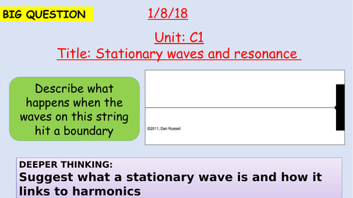 Pearson BTEC New specification-Applied science-Unit 1-Stationary waves and resonance-C1