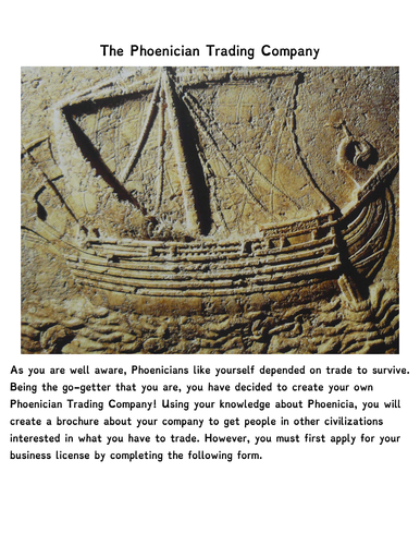 The Phoenicians Brochure Activity