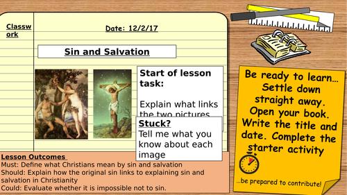AQA Religious Studies GCSE 9-1: Christian Beliefs - Sin and Salvation