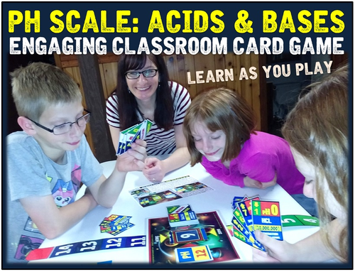 Acids and Bases pH Scale Card Game