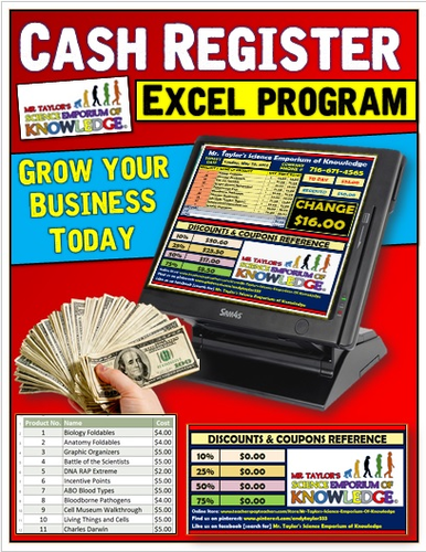 Cash Register Excel Program
