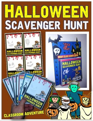 Halloween Scavenger Hunt Classroom Game