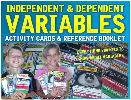 Independent and Dependent Variables Activity Cards and Booklet