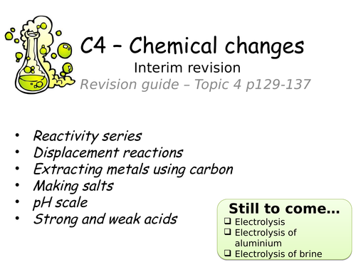 Gcse chemistry revision resources tes aqa 9 1 chemical changes revision urtaz Images