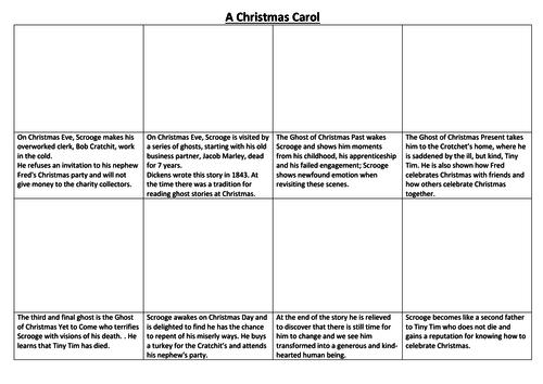 A Christmas Carol Comic Strip and Storyboard