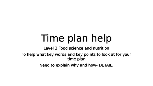 Timeplan help for level 3