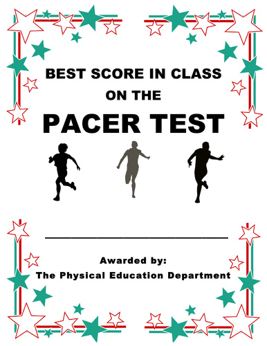fitnessgram award certificates for fitness testing in pe class by