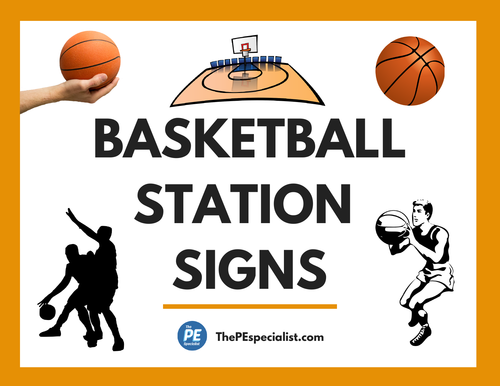 10 Fun Basketball Activity Station Signs for PE Class