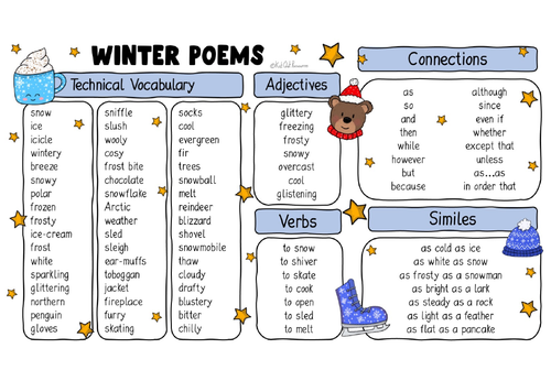 Winter Poetry Word Bank