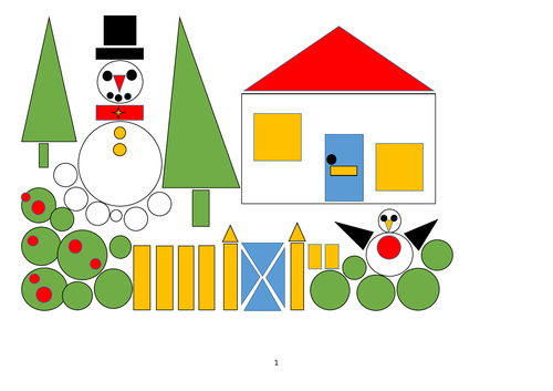 christmas 2d shape - data processing/gathering by crigdon | teaching  resources