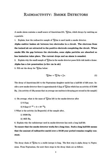 Radioactivity/Nuclear Decay Physics (Smoke detector) Worksheet