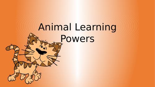 Growth Mindset, KS1 based on animal learning powers.