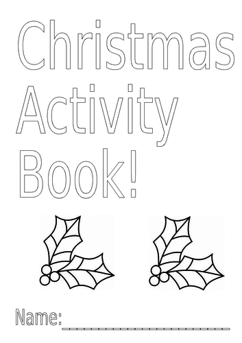 Christmas/Festive booklet with Maths, English & Colouring