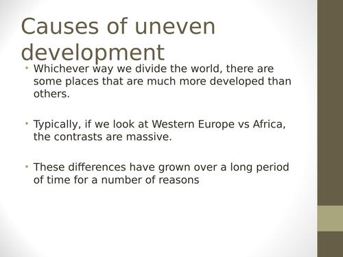 AQA GCSE Economic World - Causes of the Development Gap