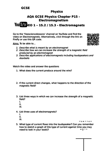 Electromagnetism and YouTube - Flipped learning or revision