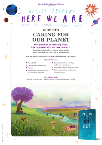 Oliver Jeffers Here We Are Caring For Our Planet