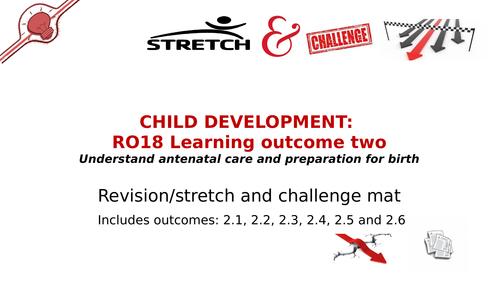 Revision mat/stretch and challenge mat R018 LO2 Child Development (Antenatal Care & prep for birth)