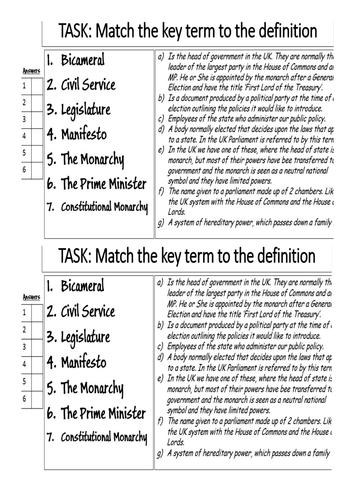 the british constitution-AQA GCSE Citizenship