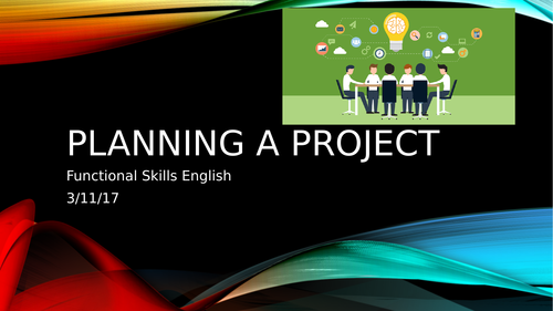 Project lesson for Functional Skills Level 1