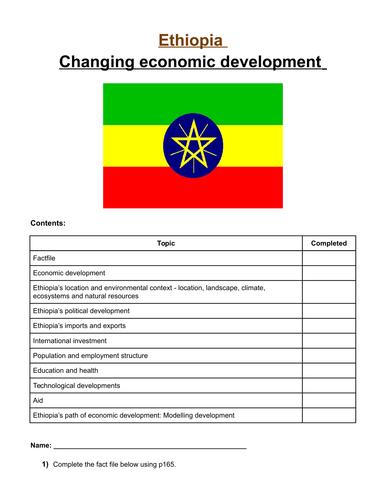 Ethiopia's changing economic development